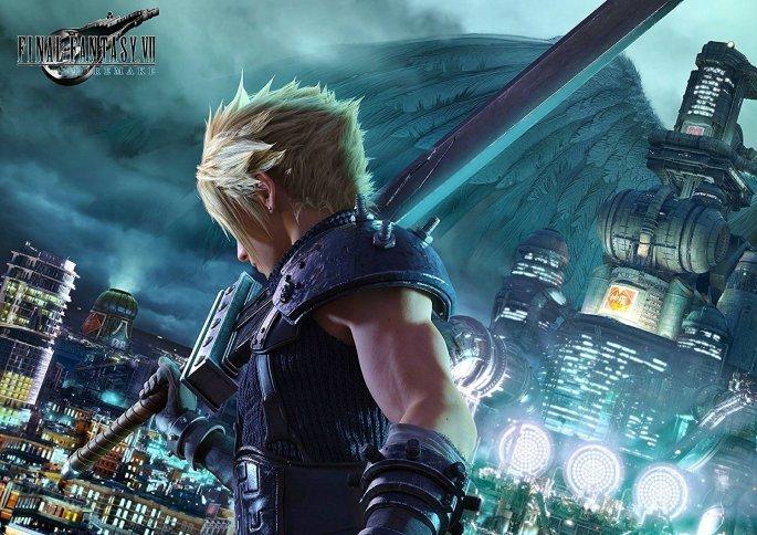 Cartel oficial del videojuego 'Final Fantasy VII Remake'