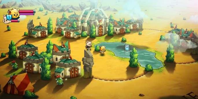 Fotograma del videojuego 'Cat quest II' (PQubeGames)